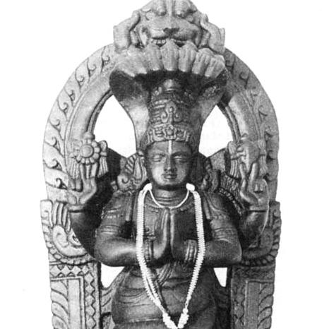 Représentation traditionnelle de Patanjali