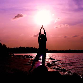 Yoga Sunset by Steven Sim